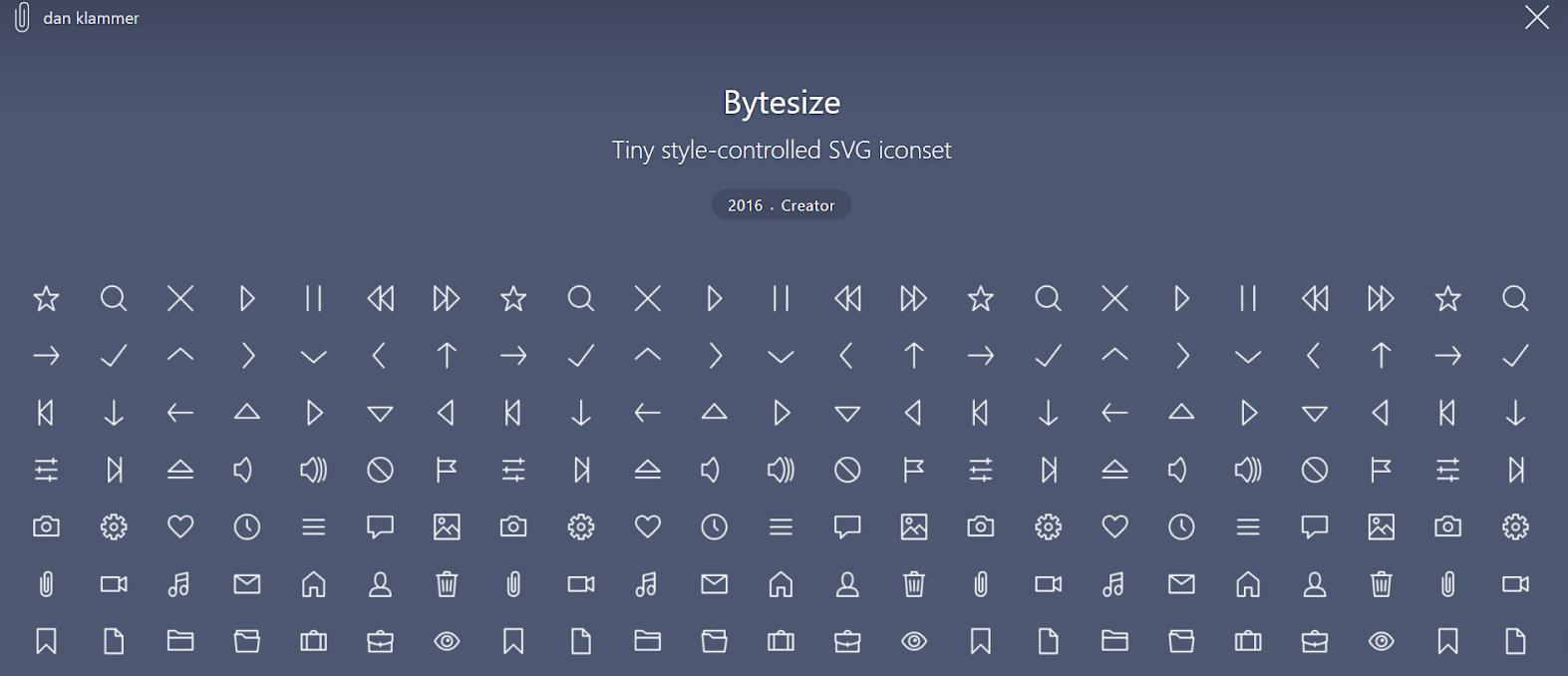 icon fonts: Bytesize