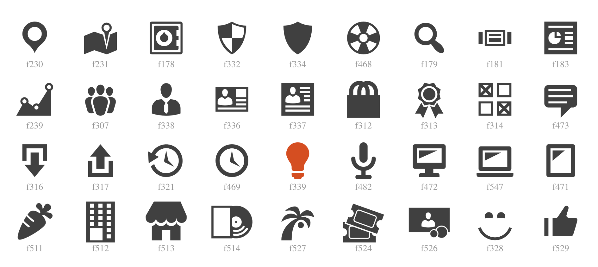 Icon fonts: Dashicons