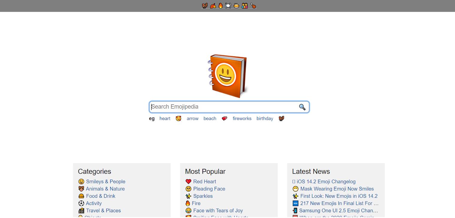 Icon fonts: Emojipedia