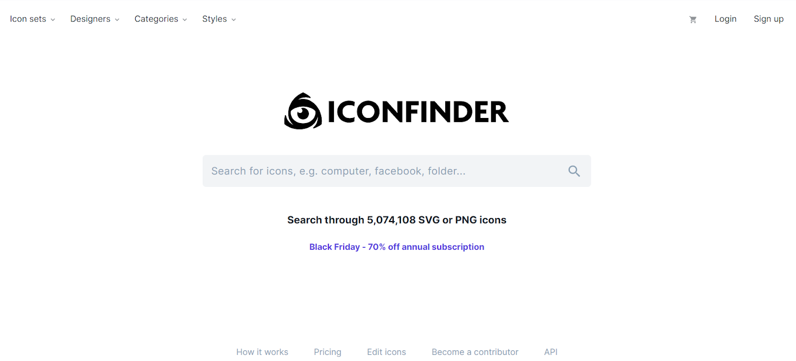 Icon fonts: Iconfinder